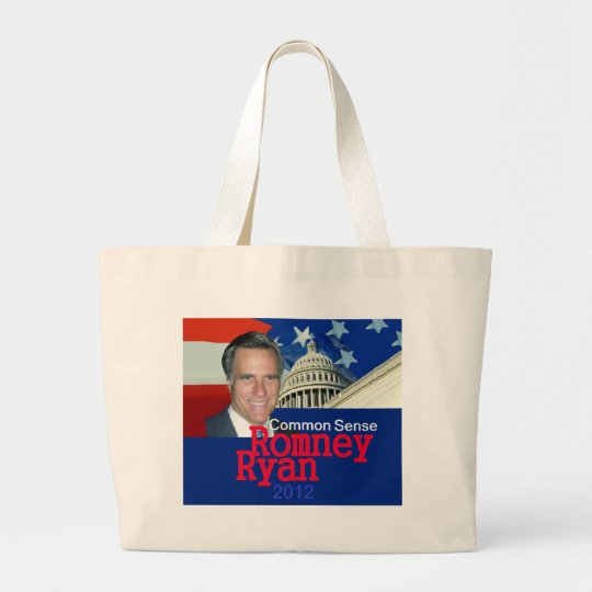 Romney Ryan Large Tote Bag