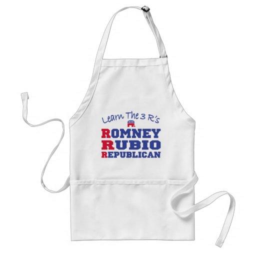 Romney Ryan Learn the 3 R's Adult Apron