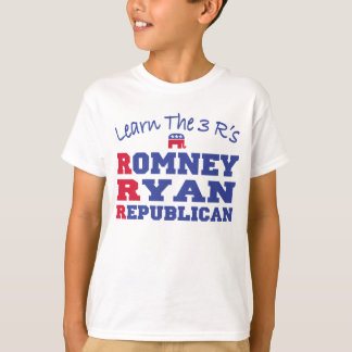 Romney Ryan Learn the 3 R's T-Shirt