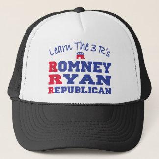 Romney Ryan Learn the 3 R's Trucker Hat