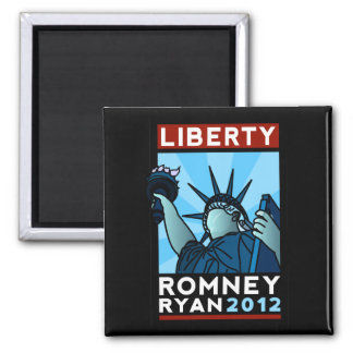 Romney Ryan Liberty 2 Inch Square Magnet
