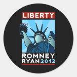Romney Ryan Liberty Classic Round Sticker