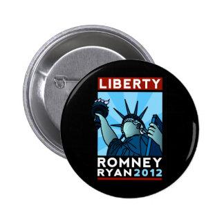 Romney Ryan Liberty Pinback Button