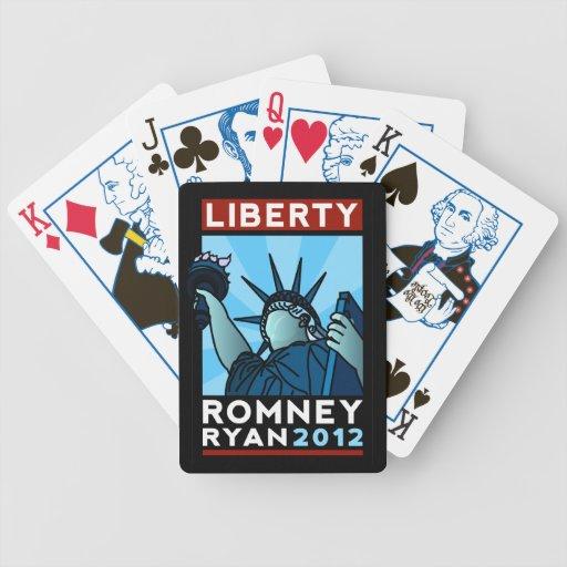 Romney Ryan Liberty Poker Cards