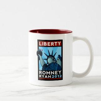 Romney Ryan Liberty Two-Tone Coffee Mug