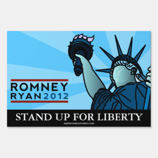 Romney Ryan Liberty Yard Sign