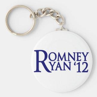 Romney Ryan Llavero Redondo Tipo Pin