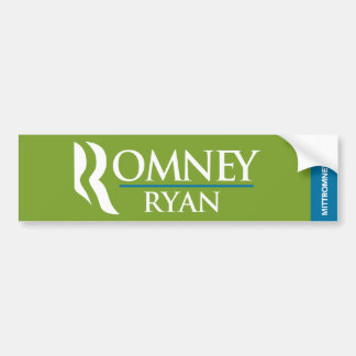 Romney Ryan Logo Bumper Sticker Green