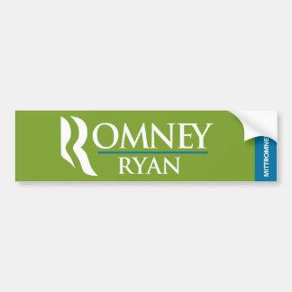 Romney Ryan Logo Bumper Sticker Green Car Bumper Sticker