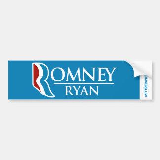 Romney Ryan Logo Bumper Sticker Light Blue Car Bumper Sticker