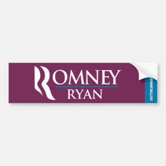 Romney Ryan Logo Bumper Sticker Purple