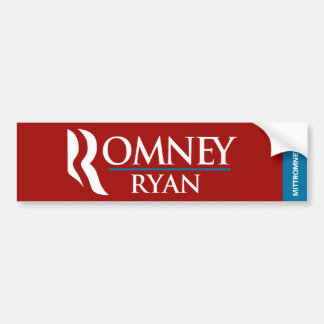 Romney Ryan Logo Bumper Sticker Red
