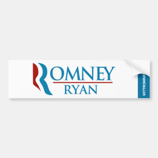 Romney Ryan Logo Bumper Sticker White