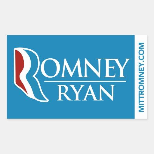 Romney Ryan Logo Sticker Blue