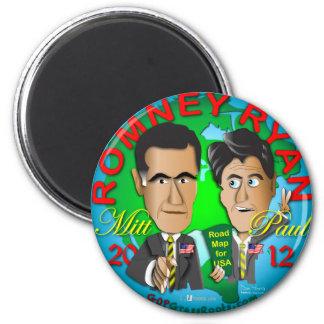 Romney Ryan los E.E.U.U. Imán Redondo 5 Cm