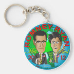 Romney Ryan los E.E.U.U. Llavero Redondo Tipo Pin