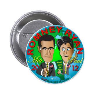 Romney Ryan los E.E.U.U. Pin Redondo De 2 Pulgadas