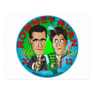 Romney Ryan los E.E.U.U. Postales