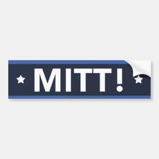 Romney Ryan MITT! Bumper Sticker (Dark Blue)