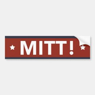 Romney Ryan MITT! Bumper Sticker (Red)