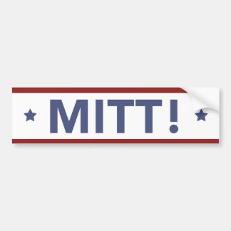 Romney Ryan MITT! Bumper Sticker White, Red, Blue