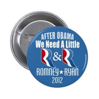 Romney Ryan - necesitamos un pequeño R y R Pins