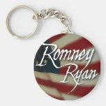 Romney Ryan, ningunas disculpas Llavero Redondo Tipo Pin