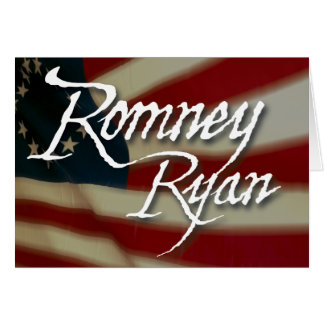 Romney Ryan, No Apologies Card