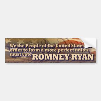Romney - Ryan - nosotros la gente Pegatina Para Auto