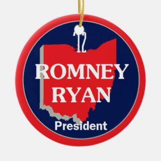 Romney Ryan OHIO Ceramic Ornament
