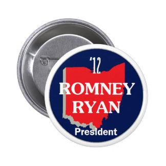 Romney Ryan OHIO Pinback Button