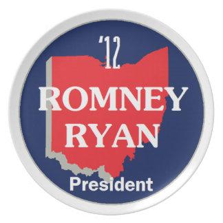 Romney Ryan OHIO Plato De Cena