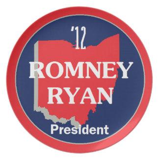 Romney Ryan OHIO Plato De Comida