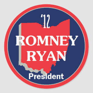 Romney Ryan OHIO Round Sticker