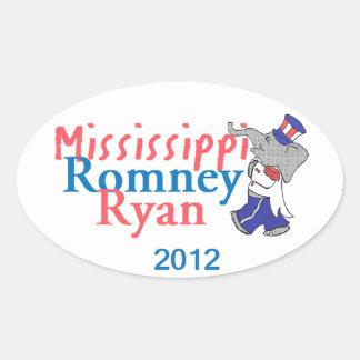 Romney Ryan Oval Sticker
