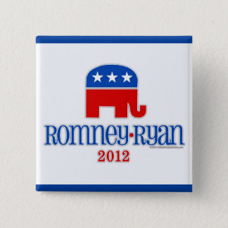 Romney/Ryan Patriot Elephant Pinback Button