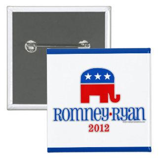 Romney/Ryan Patriot Elephant Pinback Button