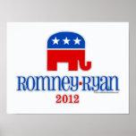 Romney/Ryan Patriot Elephant Posters