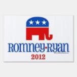 Romney/Ryan Patriot Elephant Yard Signs