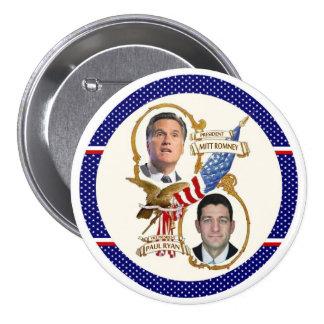 Romney / Ryan Patriots Pinback Button