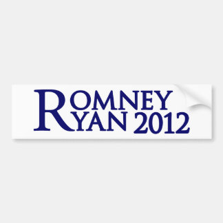 Romney Ryan Pegatina Para Auto