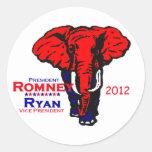 Romney Ryan Pegatina Redonda