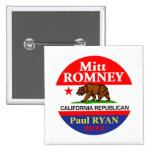 Romney Ryan Pinback Buttons