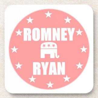 Romney Ryan Pink Coasters