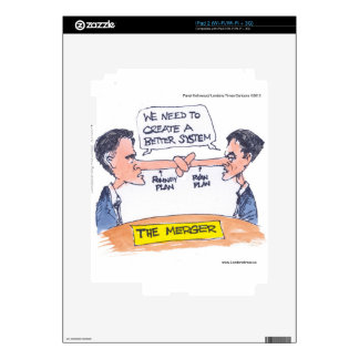 Romney Ryan Pinocchio Merger Funny Gifts & Tees Skin For iPad 2