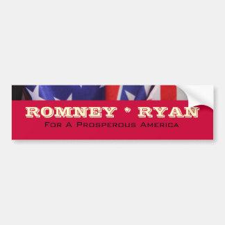 ROMNEY RYAN Prosperous America Red Bumper Sticker