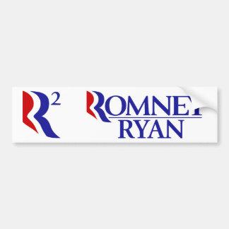 Romney Ryan - R2 - BOGO Pegatina Para Auto