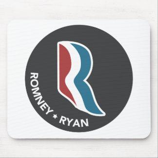 Romney Ryan R Logo Round (Black) Mouse Pads