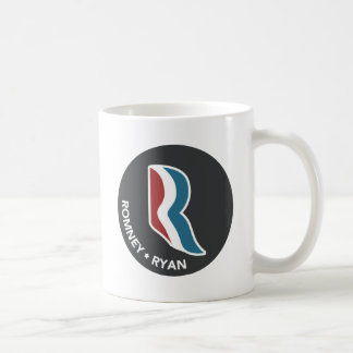 Romney Ryan R Logo Round (Black) Coffee Mug