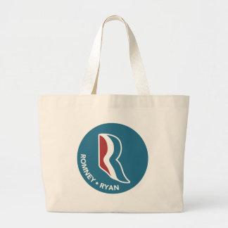 Romney Ryan R Logo Round (Blue) Tote Bags